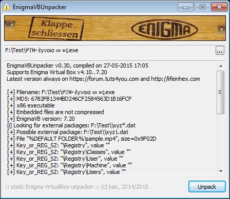 EnigmaVB Unpacker v0.30