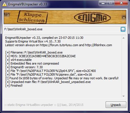 EnigmaVB_Unpacker_v033
