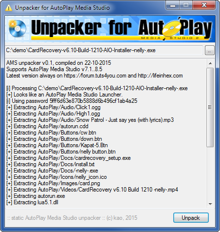 Unpacker for AutoPlay Media Studio
