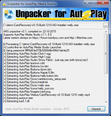 Unpacker for AutoPlay Media Studio