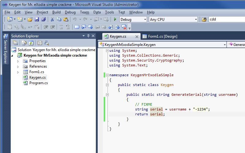 Keygen templates in Visual Studio | Life In Hex