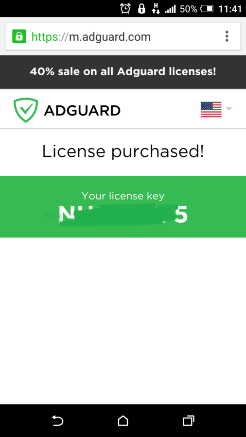 license purchased